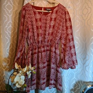 Boho dress with bell sleeves